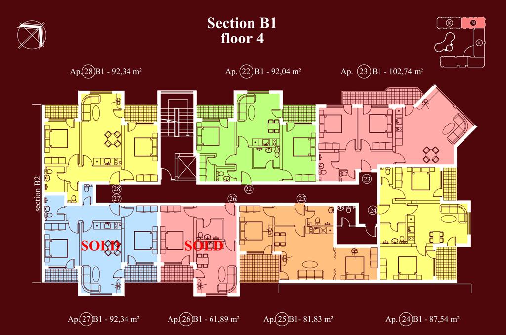 "Apart-hotel & Spa ""Diamant Residence"" - section В1, et. 4"