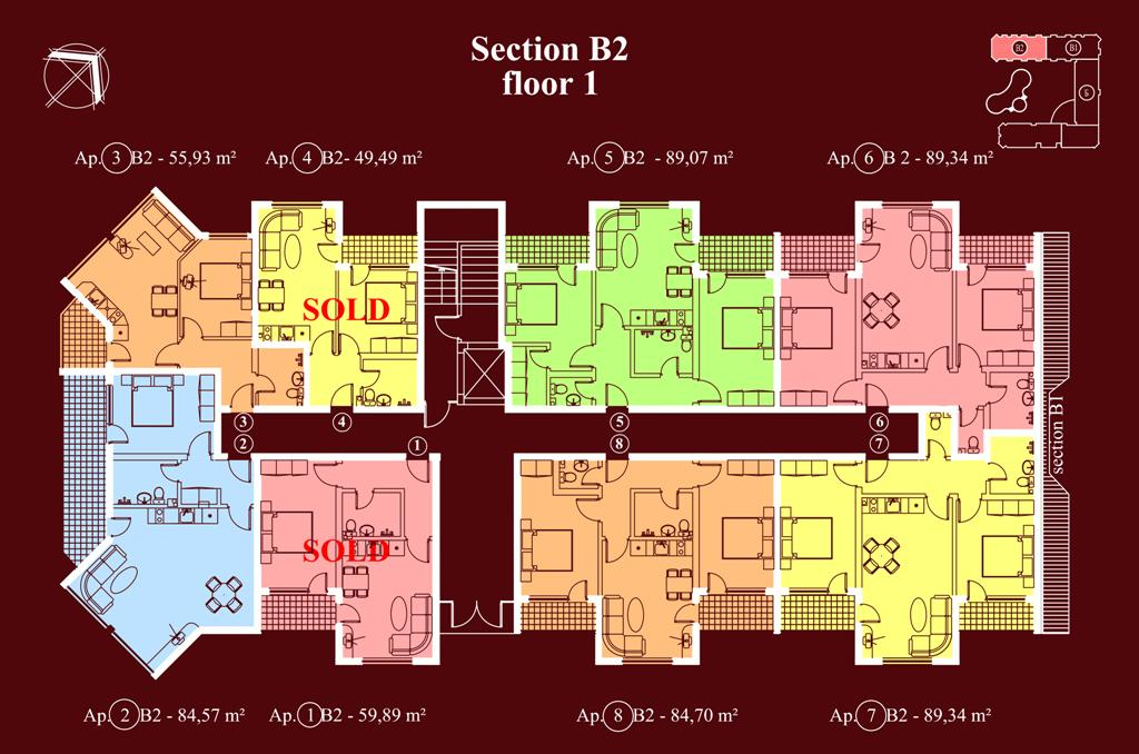 "Apart-hotel & Spa ""Diamant Residence"" - section В2, et. 1"