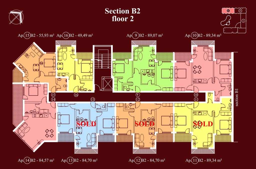 "Apart-hotel & Spa ""Diamant Residence"" - section В2, et. 2"