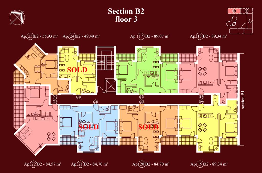 "Apart-hotel & Spa ""Diamant Residence"" - section В2, et. 3"