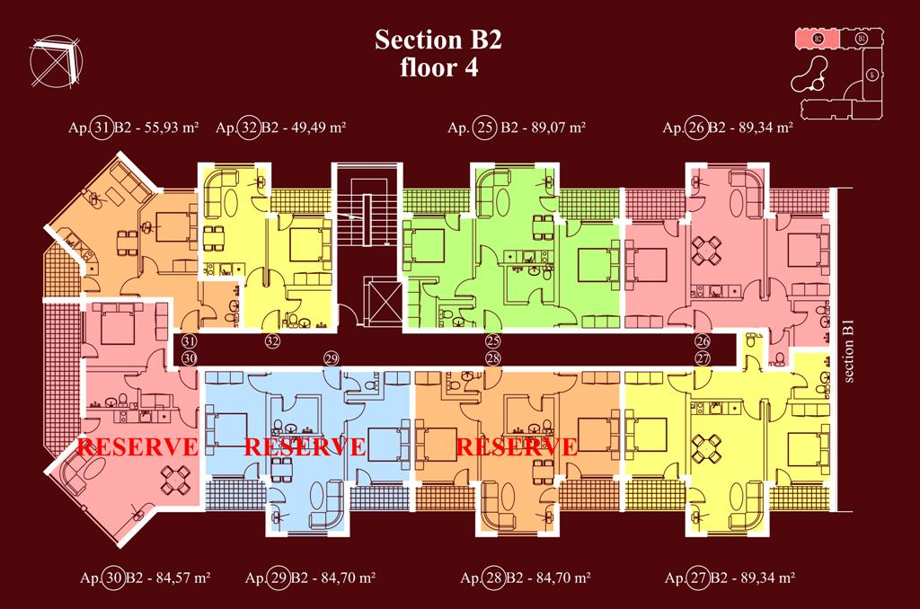 "Apart-hotel & Spa ""Diamant Residence"" - section В2, et. 4"