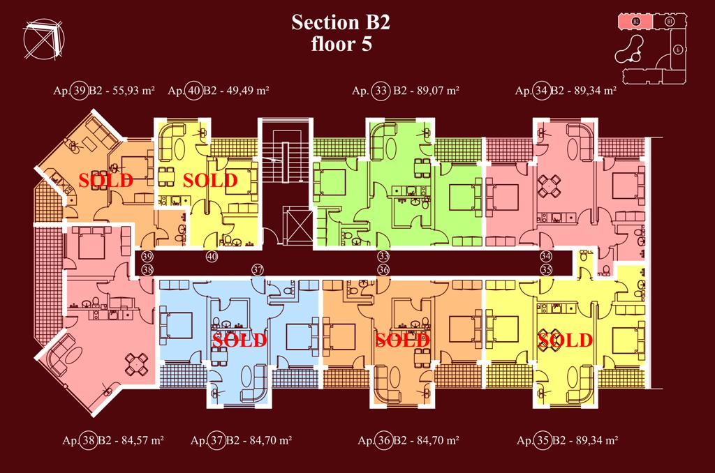 "Apart-hotel & Spa ""Diamant Residence"" - section В2, et. 5"