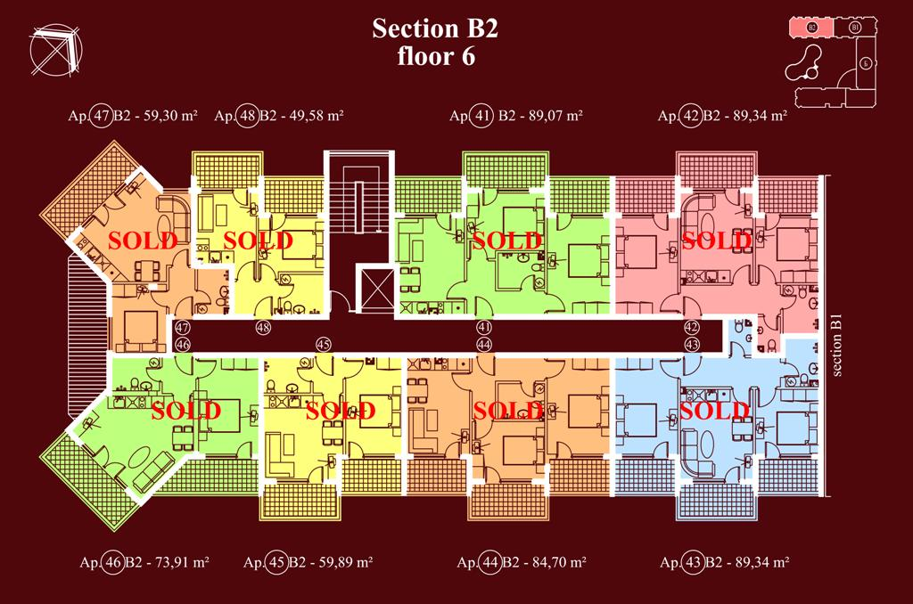 "Apart-hotel & Spa ""Diamant Residence"" - section В2, et. 6"