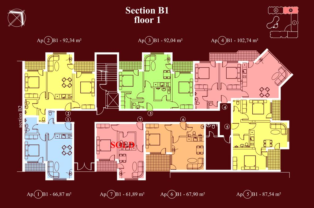 "Apart-hotel & Spa ""Diamant Residence"" - section В1, et. 1"