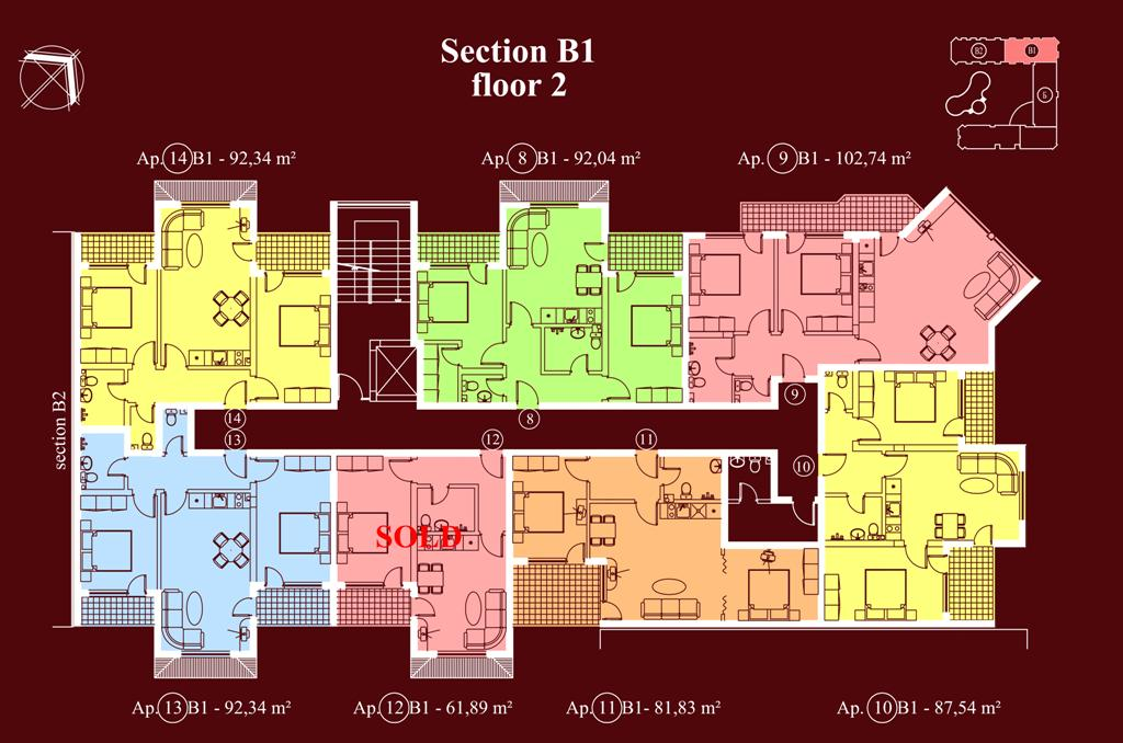 "Apart-hotel & Spa ""Diamant Residence"" - section В1, et. 2"