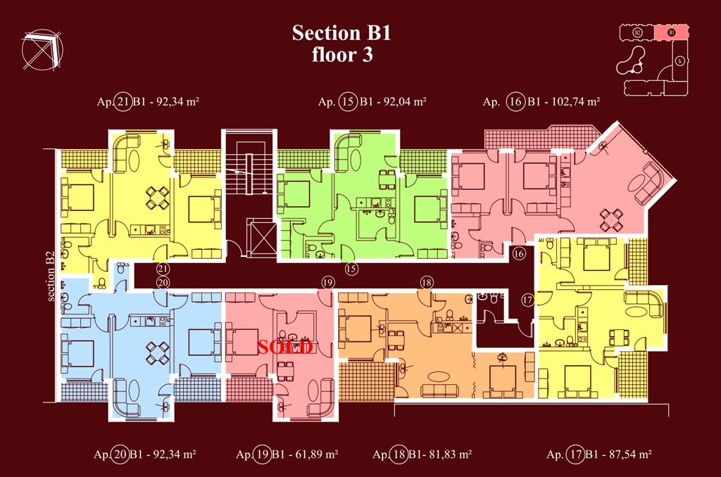 "Apart-hotel & Spa ""Diamant Residence"" - section В1, et. 3"